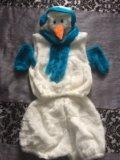 Детский карнавальный костюм снеговик. Фото 1.