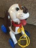 """Музыкальная каталка """"лающий щенок"""". Фото 1."""