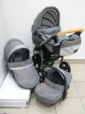 Детская коляска dpg denim 3в1. Фото 1.