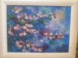 """Картина из чешского бисерая """"цветущая вишня"""". Фото 1."""
