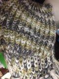 Шапка и шарф комплект. Фото 1.