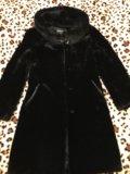 Шуба мутоновая (капюшон отделка норкой). Фото 3.
