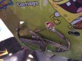 Новые круглые серьги со спанч бобом. Фото 2.