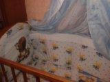 Кроватка детская+борты+матрац. Фото 2.