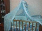 Кроватка детская+борты+матрац. Фото 3.