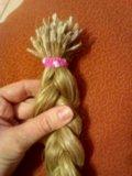 Волосы натуральные 50 см. Фото 2.