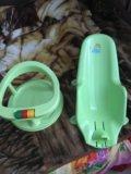 Лежак и сиденье в ванную для малышей. Фото 2.