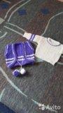 Вязанный набор( кофта, жилетка, штанишки, берет). Фото 1.
