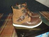 Ботинки детские кожаные зимние. Фото 3.