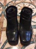 Мужские кожаные туфли зимние. Фото 1.