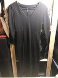 Черное теплое платье naf-naf. Фото 1.