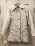 Куртка женская 42-44р молочного цвета. Фото 1.