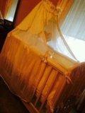 Детская кроватка с балдахином. Фото 2.