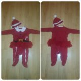 Новогодний костюм для малышки next  6-9 ме. Фото 1.