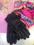 Перчатки кожаные женские. Фото 1.
