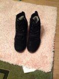 Замшевые зимние ботинки francesco donni. Фото 2.