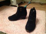 Замшевые зимние ботинки francesco donni. Фото 4.