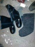 Сапоги кожаные 43 размер. Фото 1.
