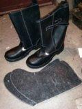 Сапоги кожаные 43 размер. Фото 2.
