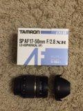 Объектив tamron sp af 17-50mm f/2.8 xr di ii. Фото 1.