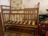 Детская кроватка с матрасом и пеленальный комод. Фото 4.