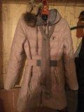 Зимний пуховик, шапка новая, шарф. Фото 1.