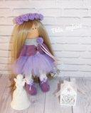 Интерьерная, текстильная кукла. Фото 2.