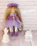 Интерьерная, текстильная кукла. Фото 1.
