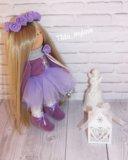 Интерьерная, текстильная кукла. Фото 3.