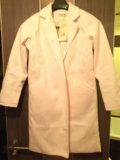 Новое пальто легкое айвори 42/44 р-р. Фото 1.