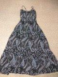 Летнее платье,размер m-l. Фото 1.