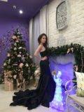 Платье новое в пол длинное черное. Фото 1.