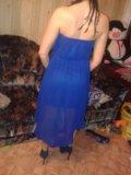 Синее платье. Фото 1.