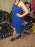 Синее платье. Фото 2.