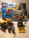 Конструктор lego 4201 погрузчик и самосвал. Фото 1.
