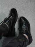 Ботинки лаковые черные 37. Фото 1.