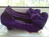 Туфли замша 38 размер. Фото 3.