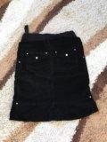 Вельветовая юбочка для беременных. Фото 2.