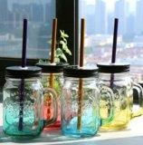 Банка для напитков mason jar. Фото 1.