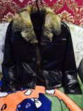 Куртка зимняя, мех лисы. Фото 1.