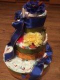 Торт из подгузников. Фото 2.