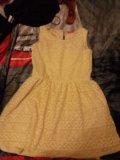 Платье светло желтое. Фото 1.