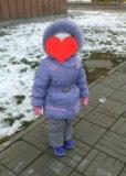 Зимняя куртка 98-104 см (2-4 г). Фото 1.