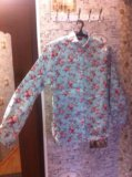 Р.48 новая рубашка. цвет мятный. Фото 1.