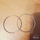Серебряные серьги кольца. Фото 1.