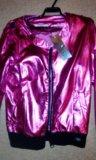 Розовая перламутровая куртка ветровка 42-44?. Фото 1.