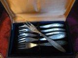 Маленькие мельхиоровые вилочки. Фото 3.