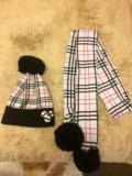 Шапка и шарф, зима. Фото 1.