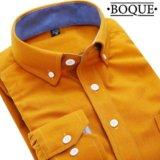 Оранжевая мужская рубашка. Фото 1.