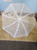 Белый клатч и кружевной зонт. Фото 4.